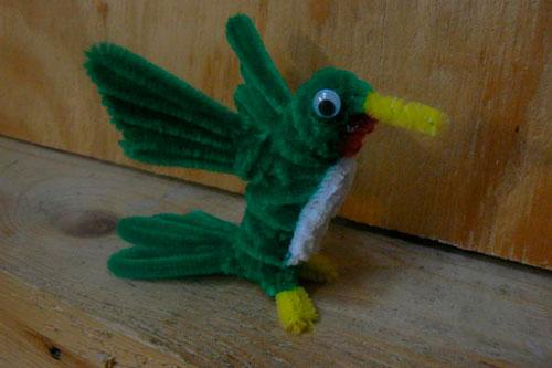 птица из синельной проволоки