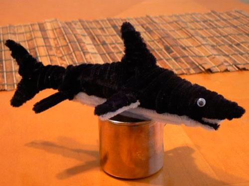 акула из пушистой проволоки
