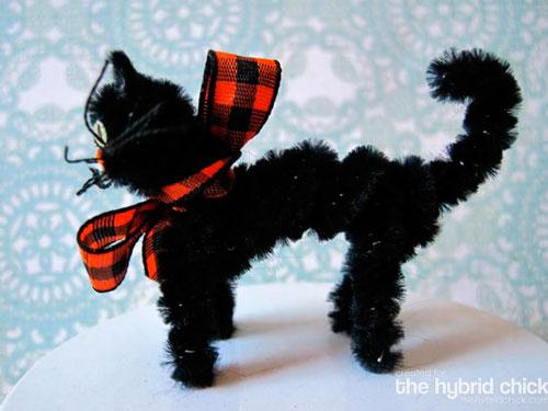кошка из пушистой проволоки