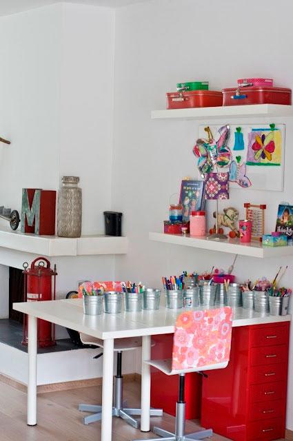 организация творческого уголка в комнате ребенка