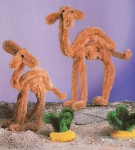 верблюды поделка из пушистой проволоки для детей