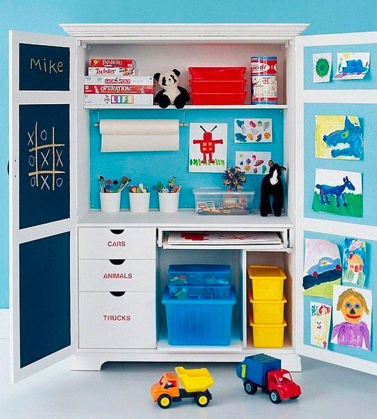 большой шкаф для детского творчества