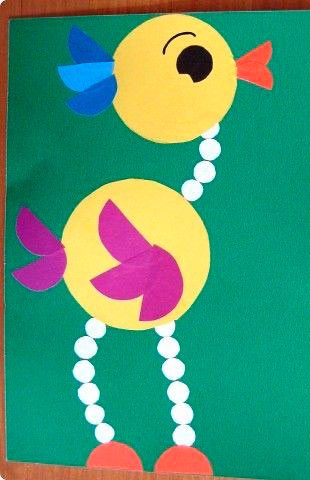 детская аппликация из кружков для детей от 6 до 7 лет