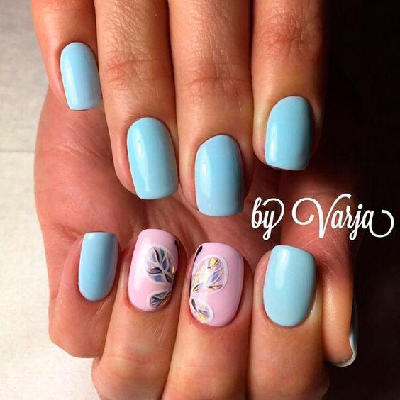 бабочка в дизайне ногтей