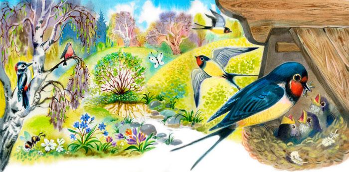 Стихи про птиц для детей 5-6 лет