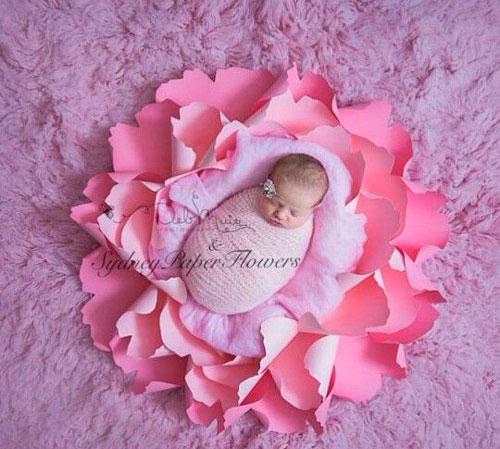 идеи для фотосессии новорожденных: цветок