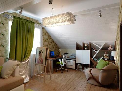 комната на мансарде