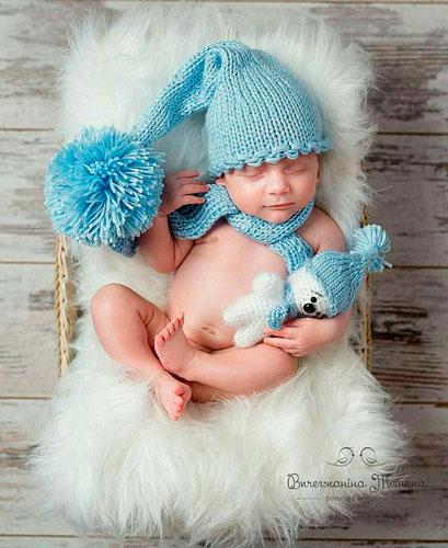идеи для фотосессии новорожденных: гномик