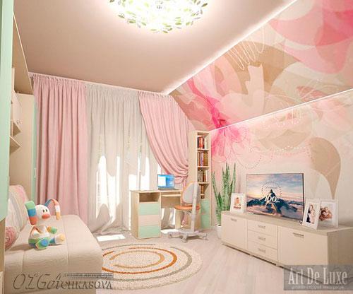 Комната для девочек на мансарде 1