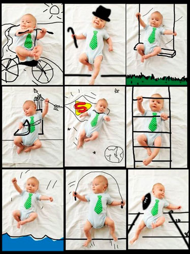 дорисованные фото младенцев