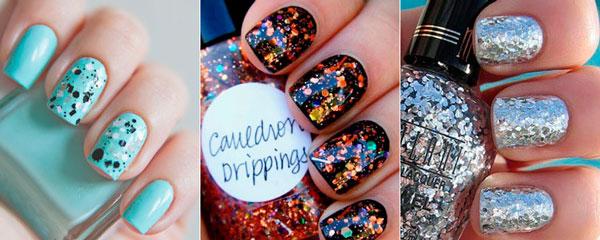 Как накрасить ногти с блестками