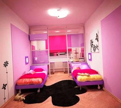 дизайн детской комнаты для девочек 3