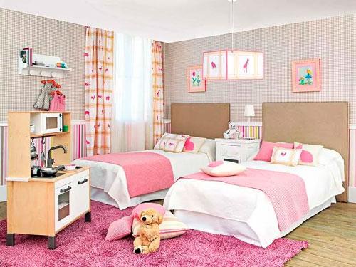 Детские комнаты для двух девочек 6