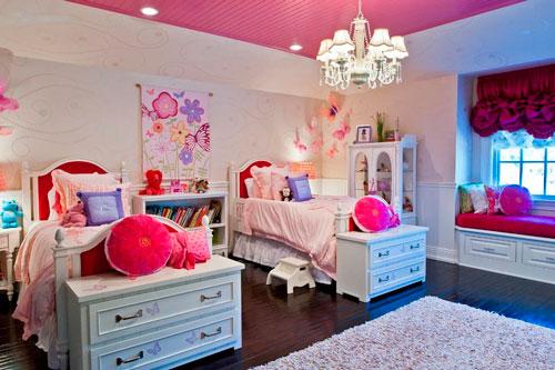 Детские комнаты для двух девочек 5