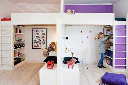 фото дизайна детской для двух девочек 3