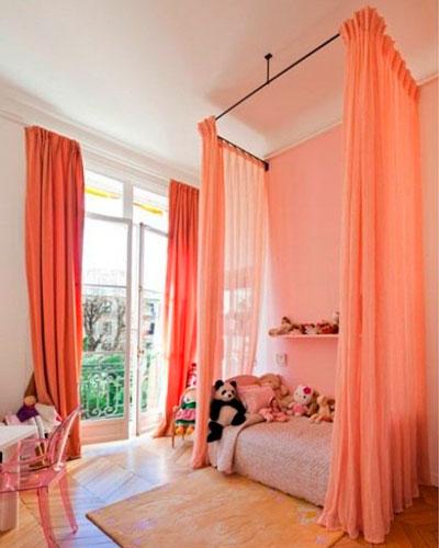 интерьер детской комнаты в оранжевом цвете 2