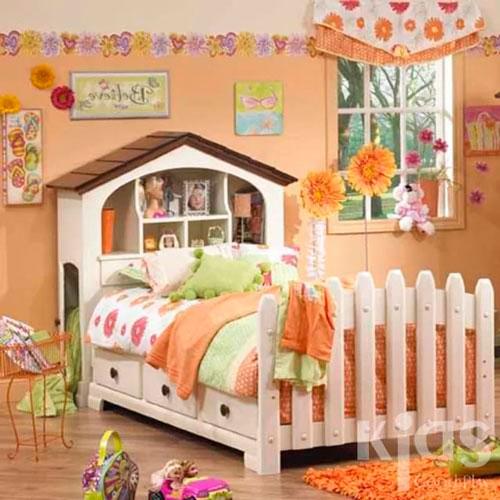 Оранжевый цвет в интерьере детской комнаты 1