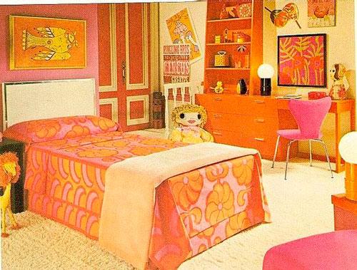 детская комната в оранжевом цвете 2