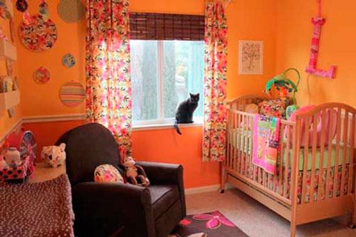 детская комната в оранжевом цвете 3