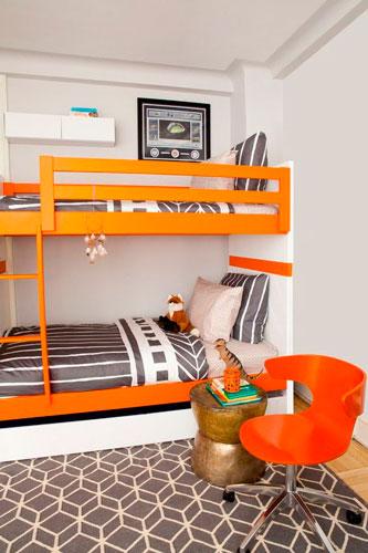 детская комната в оранжевом цвете 7