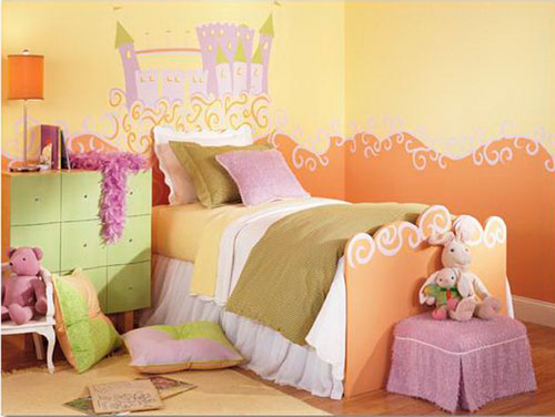 оранжевая детская комната 7