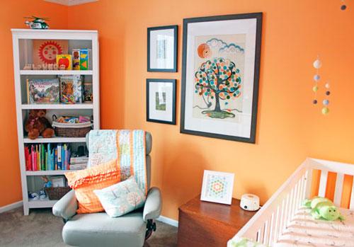 оранжевая комната подростка 5