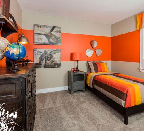 оранжевая детская комната 8
