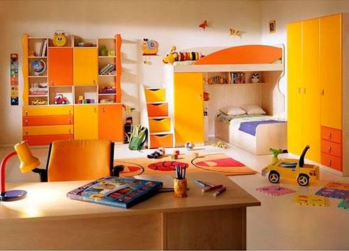 детская комната в оранжевом цвете 5