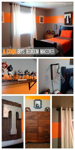 оранжевая комната подростка