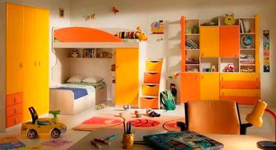 детская комната в оранжевом цвете 9