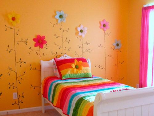 оранжевая комната для девочки