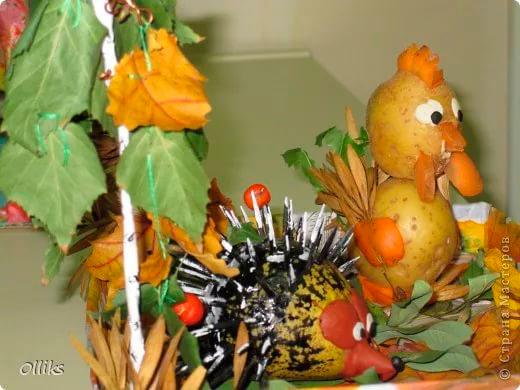 поделки из овощей для детского сада и школы на осенний конкурс 2