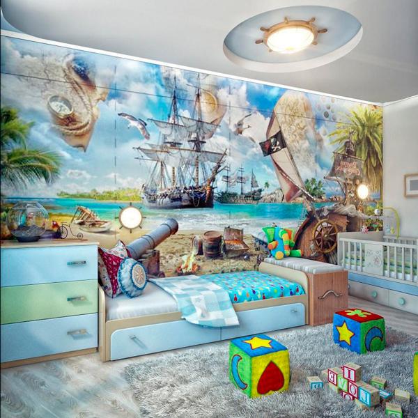 Дизайн детской комнаты для 2 мальчиков: комната для малышей