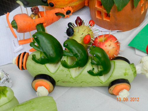 поделки из овощей для детского сада и школы на осенний конкурс 3
