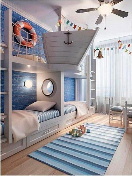 необычный дизайн детской комнаты для мальчиков