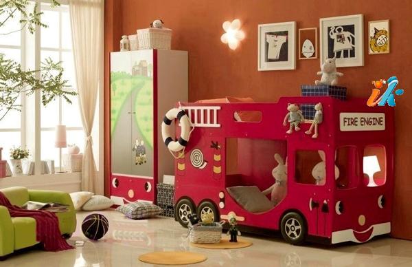 вариант оформления детской комнаты для двух мальчиков