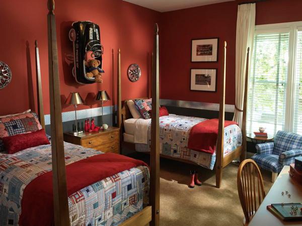 оформление спальни мальчиков в классическом стиле