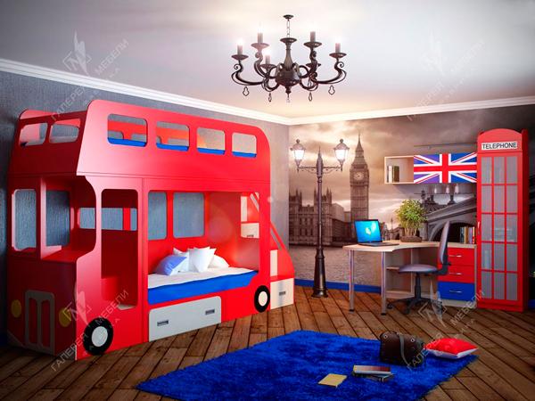 английская детская комната для двух мальчиков