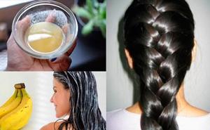 Маска против выпадения волос с бананом и пивом