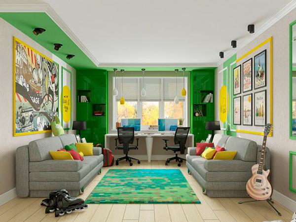 как оформить интерьер детской комнаты для двух мальчиков
