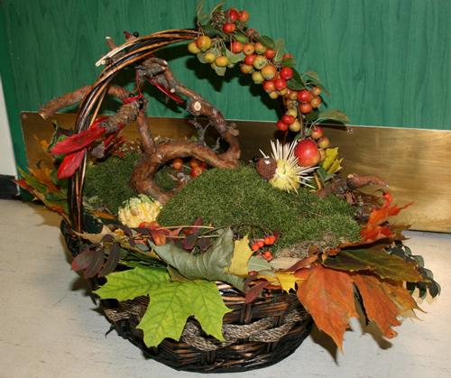 осенние букеты и композиции из листьев 3