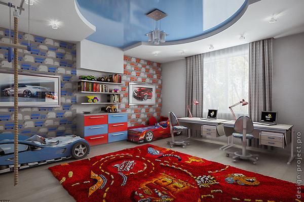 кровати машинки в детской