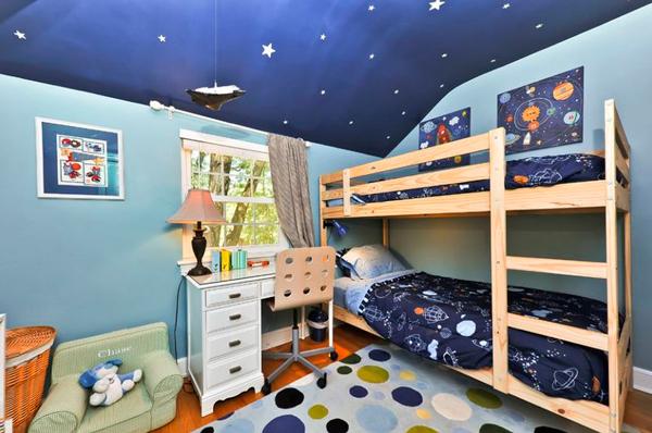 дизайн детской комнаты в стиле космос