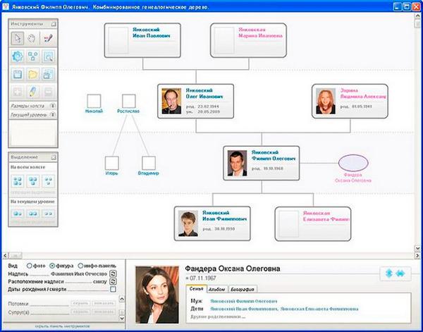 Как составить генеалогическое древо семьи: программа семейная летопись