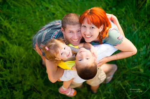 объятия - хорошая семейная традиция