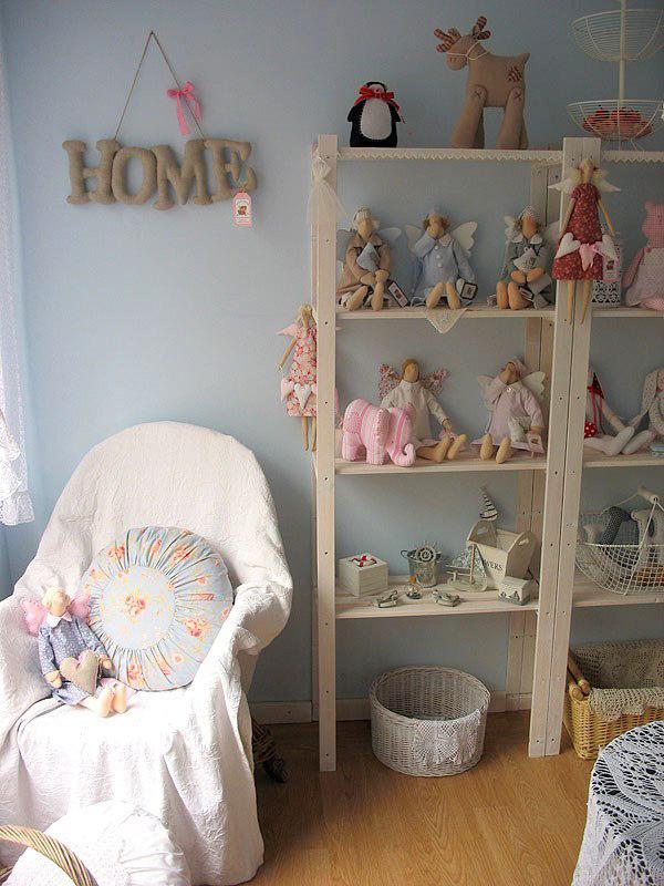 Хранение игрушек в детской комнате в стиле Прованс 2