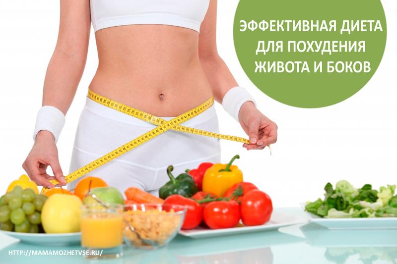 Эффективная диета для похудения живота