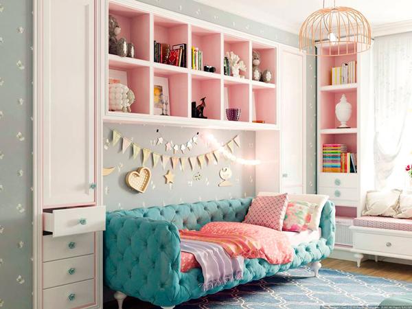 вариант отделки детской комнаты в стиле Прованс 2