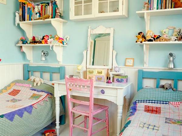 красивый интерьер в стиле прованс для двух детей