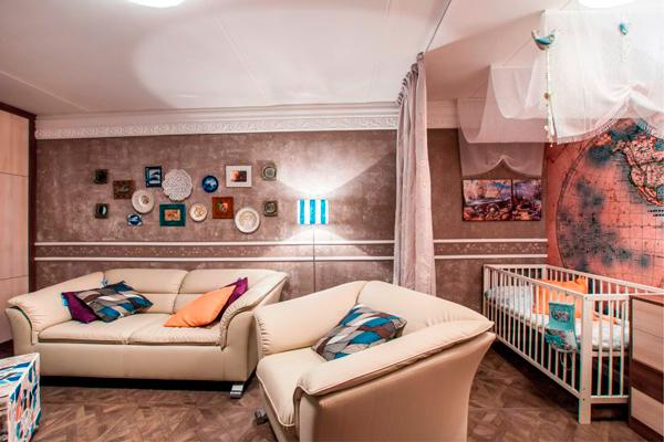 как сделать детскую для двоих детей в однокомнатной квартире